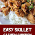 Easy Skillet Cashew Chicken #chickenrecipes #cashewchicken