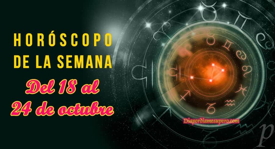 Horóscopo de la semana: Del 18 al 24 de octubre