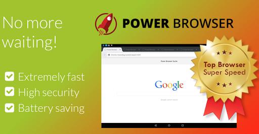 تحميل تطبيق Power Browser - Fast Internet Explorer للتصفح السريع و الامن
