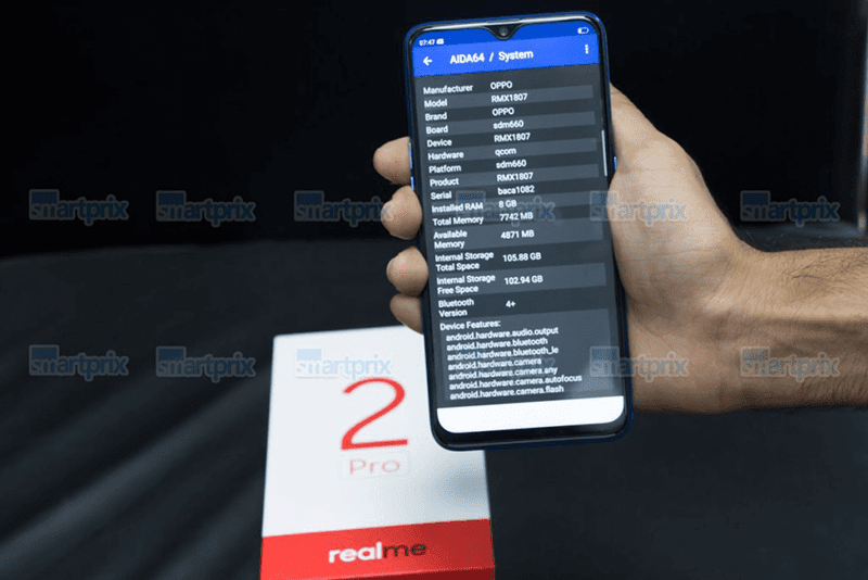 AIDA64 data of the alleged Realme 2 Pro