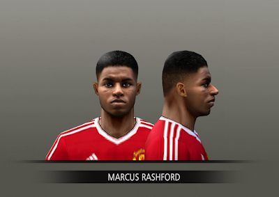 PES 6 Faces Marcus Rashford by Alegor