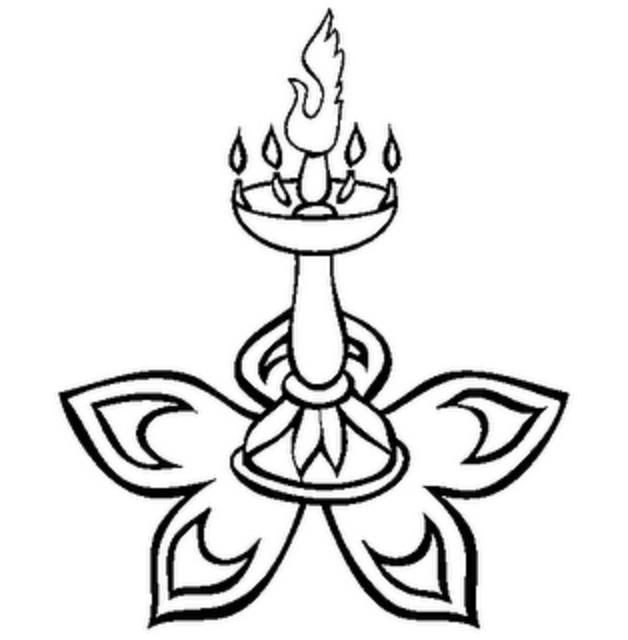 diya pages for coloring   Diwali Diya Coloring Page Sketch Coloring Page