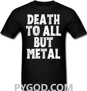 Death To All But Metal t-shirt  #PMRC PYGOD.COM