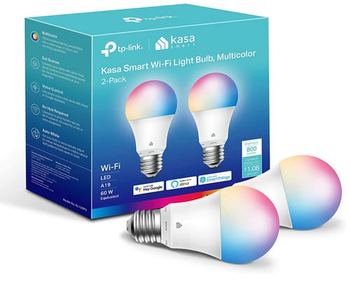 Kasa Smart Full Color Changing Dimmable Smart WiFi Bulbs