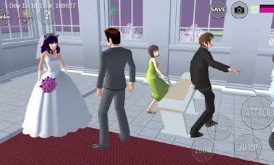 pernikahan sakura school simulator