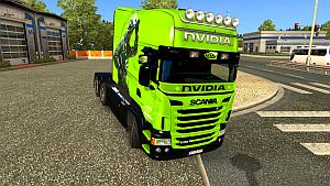 NVIDIA paint job for Scania RJL Longline