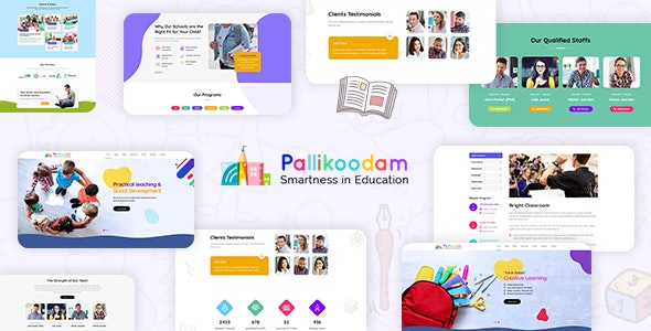 Pallikoodam - Kids School WordPress Theme Free Download