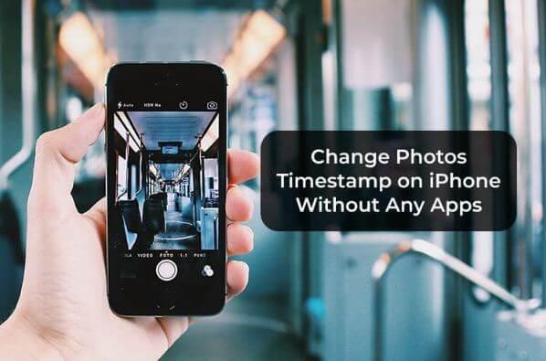 تغيير, الطابع, الزمني, على, صور, آيفون