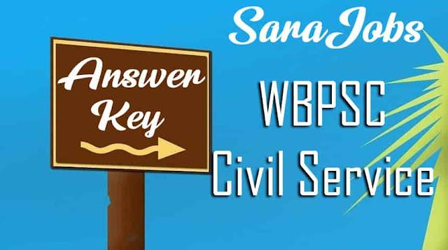WBPSC Civil Service Answer Key