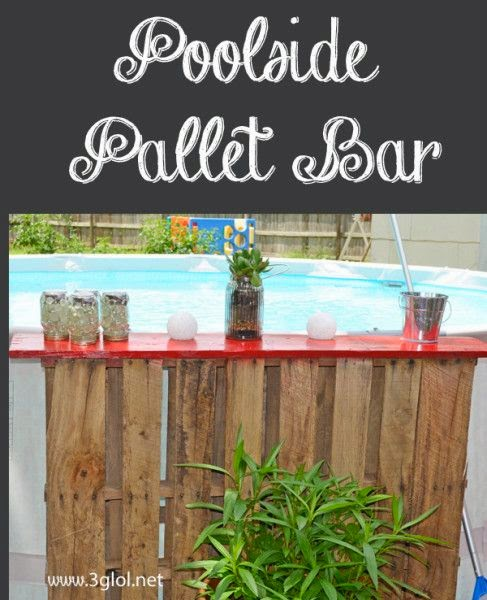 Above Ground Poolside Pallet Bar Check Out This Idea From 3glol