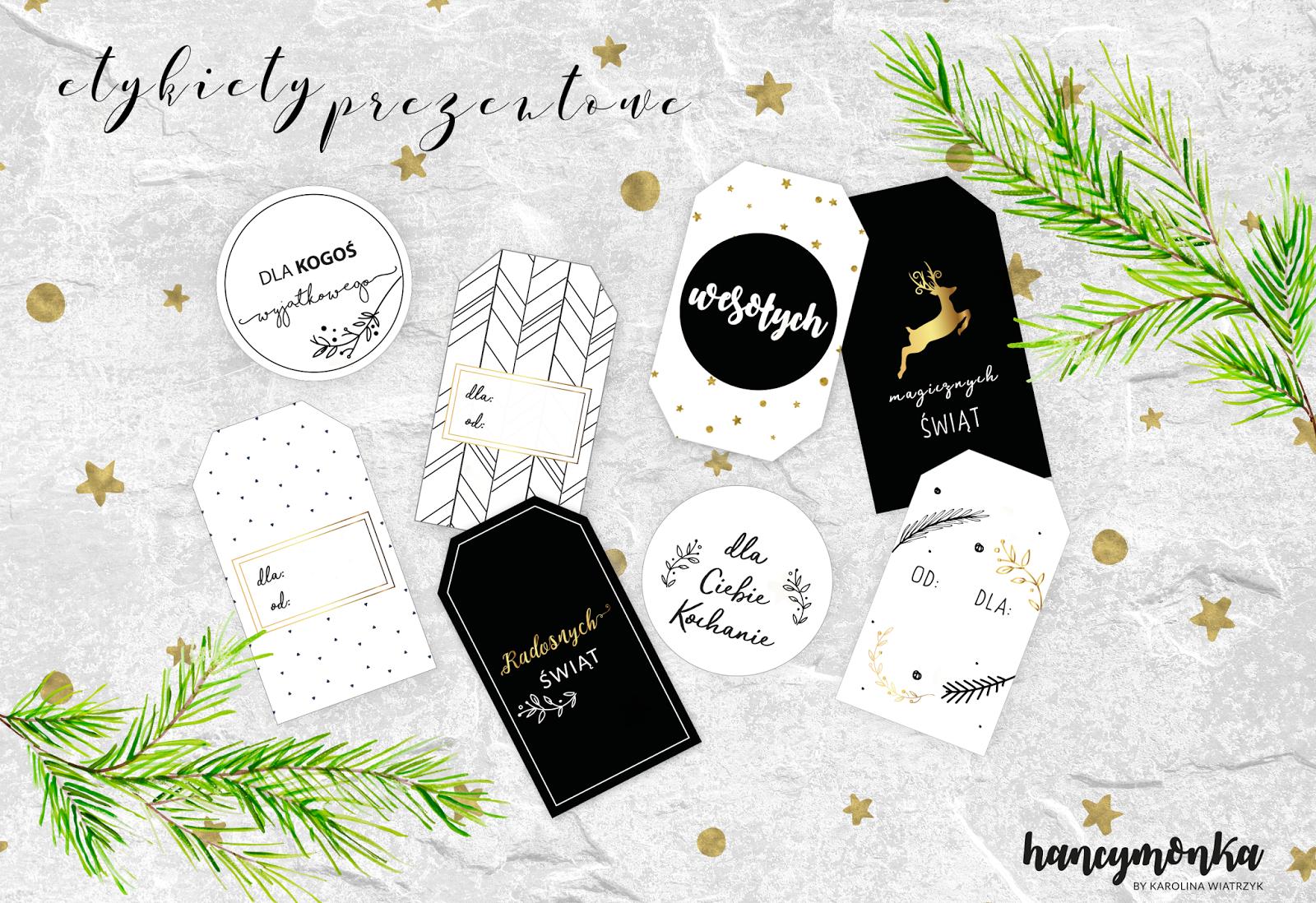 świąteczne Dekoracje Etykiety Do Prezentów I Plakaty Do