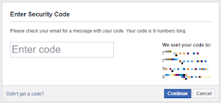 Facebook security code