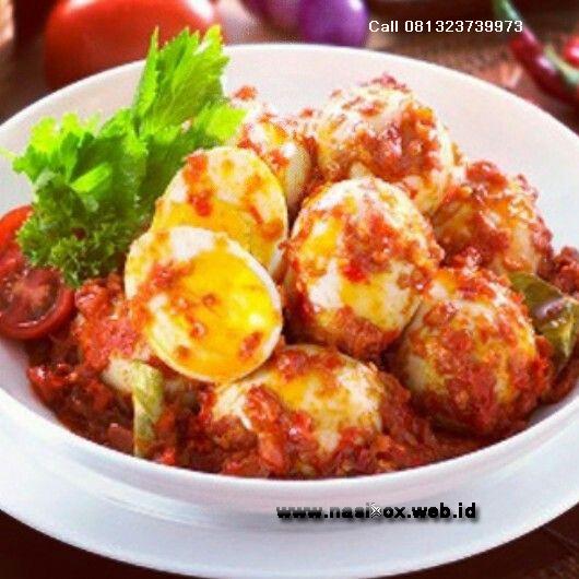 Telur balado padang ala nasi box walini ciwidey