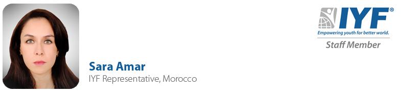 Sara Amar IYF Representative, Morocco