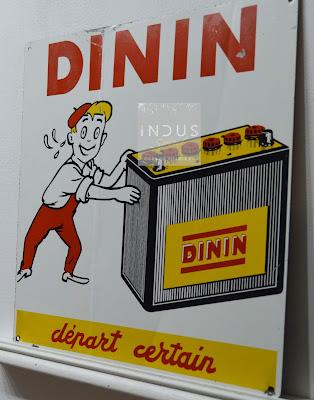 Tôle publicitaire Dinin