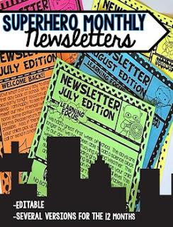 https://www.teacherspayteachers.com/Product/Monthly-Newsletters-Superhero-Edition-Editable-2635995
