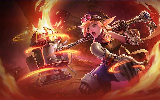Lolita Steel Elf Heroes Tank Support of Skins Mobile Legends Wallpaper HD for PC