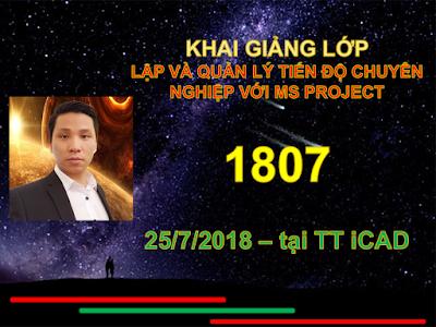 Khai giảng thành công lớp MS Project 1807