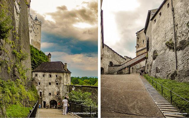 Subida ao castelo de Salzburgo