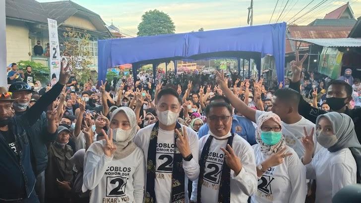 Ipank dan Kintani Bius Ribuan Massa Pada Kampanye Fikar - Yos di Rumah Kuning Dusun Baru