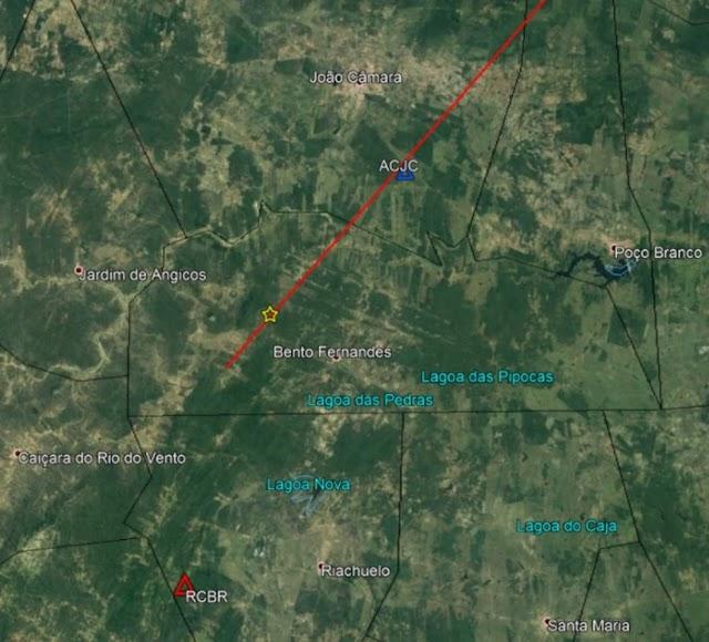 Novo tremor de terra é registrado na região de Bento Fernandes, RN