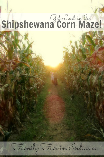 Get lost in the Shipshewana Corn Maze. Family fun in Indiana!