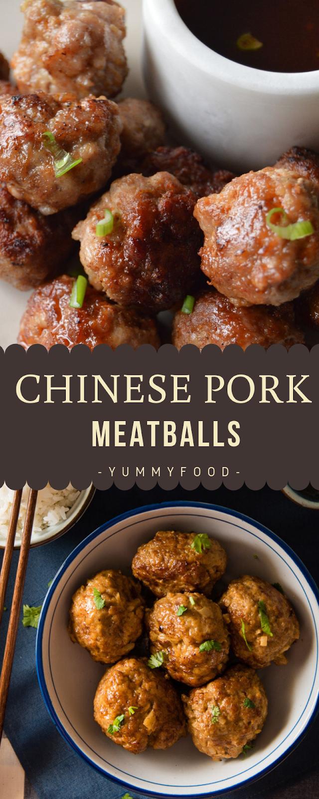 Chinese Pork Meatballs