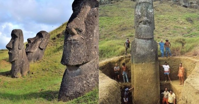Bodies Of The World Famous Easter Island Heads Revealed