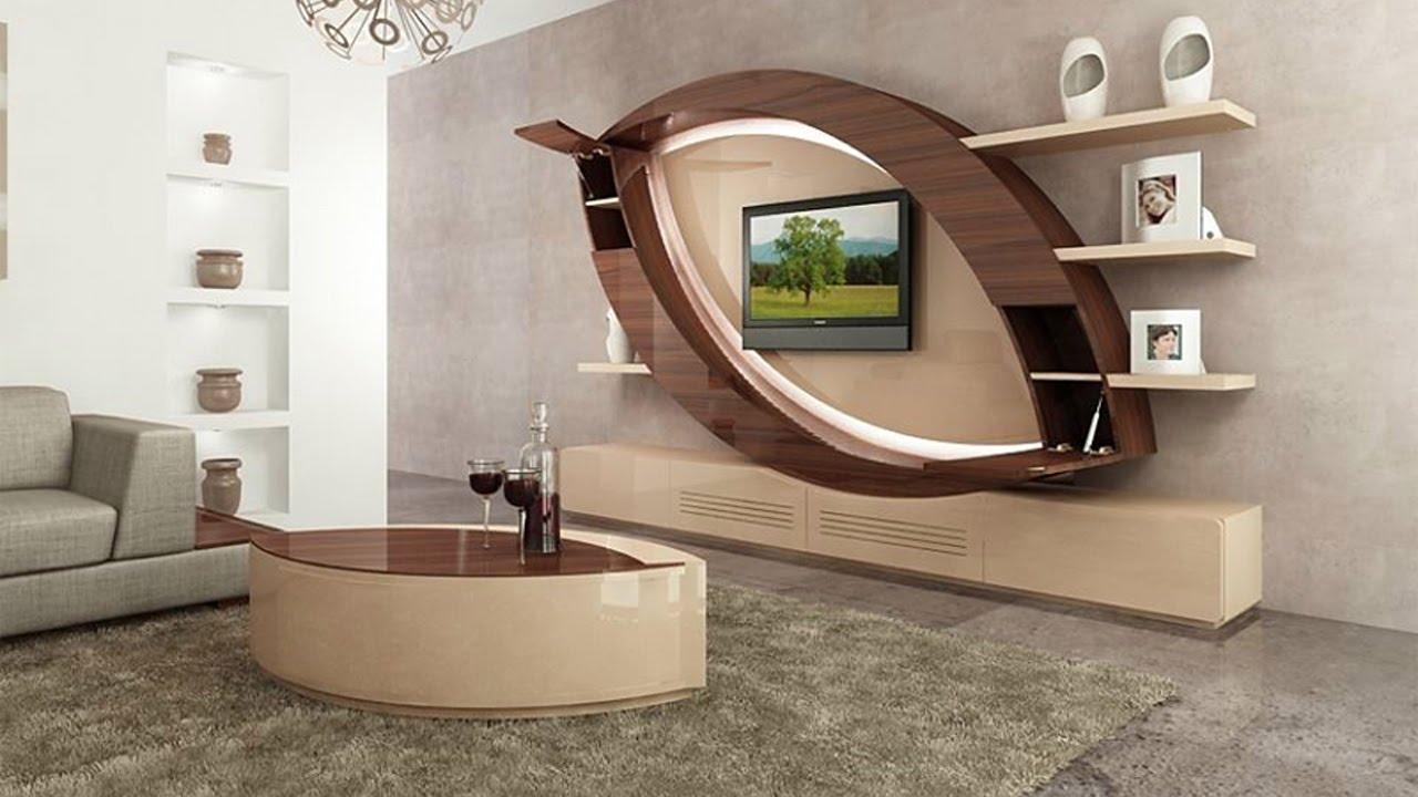 Modern TV wall units: Living room tv cabinet design catalogue 2019