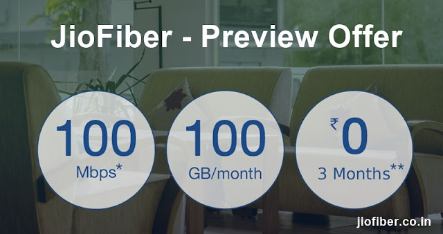 Reliance Jio Fiber to offer 100GB data for Rs 500