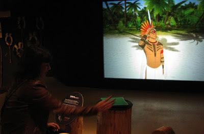 painel interativo no Museu dos Descobrimentos em Belmonte