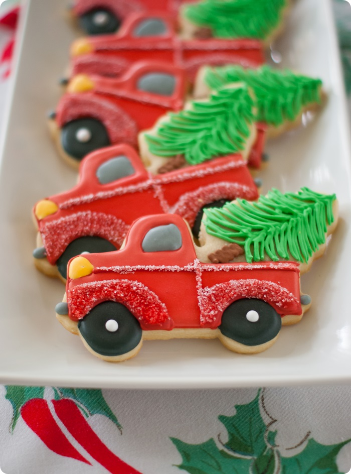 Christmas Truck Cookie Cutter With Details