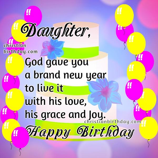 Christian Birthday Card for my Daughter Christian Birthday Free