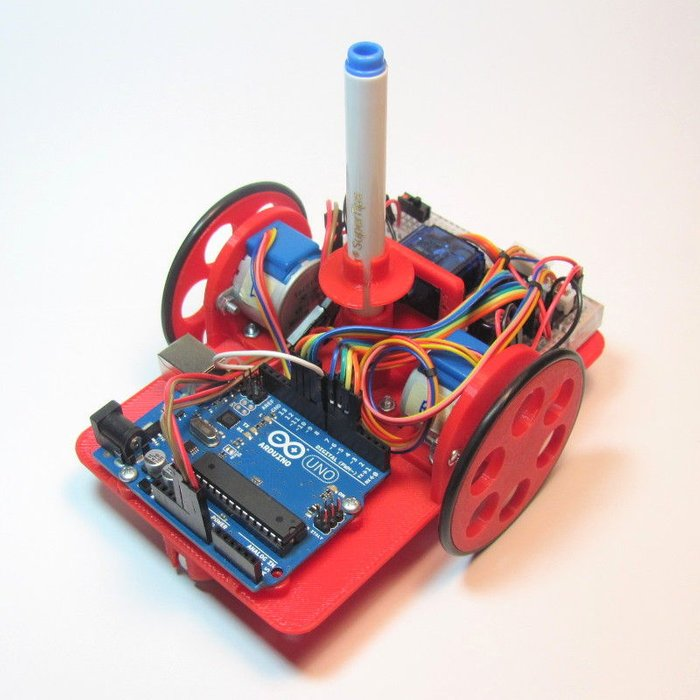 Arduino Drawing Robot - How to do Art with Arduino and a Pin | Ahmed