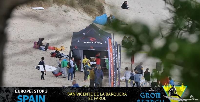 este fin de semana pasado se disputo el tercer evento de la serie rip curl grom search 2017 en san vicente de la barquera 2017 con 180 chicos de toda espana