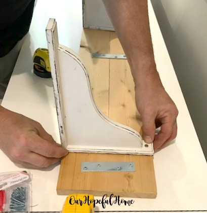 distressed corbel DIY shelf mending plate