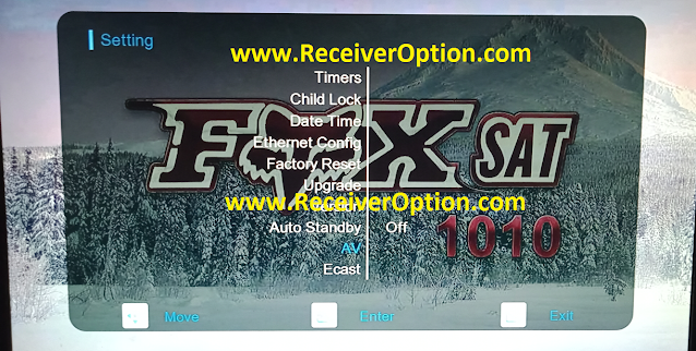 FOX SAT 1010 1506TV 512 4M NEW SOFTWARE WITH ECAST & XTREAM IPTV OPTION