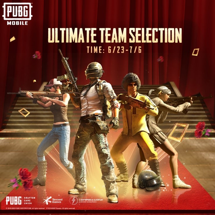 Send a rose, Gain a Heart, To see your favourite influencers make it to PUBGM Ultimate Team