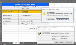 Cara Membuat Tombol Print Di Excel Dengan Data Vlookup