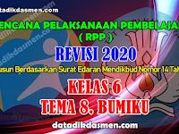 RPP KELAS 6 TEMA 8 SD/MI KURIKULUM 2013 REVISI 2020