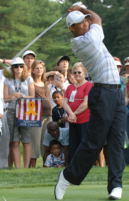 Tiger Woods tees off, but probably not on his birthday