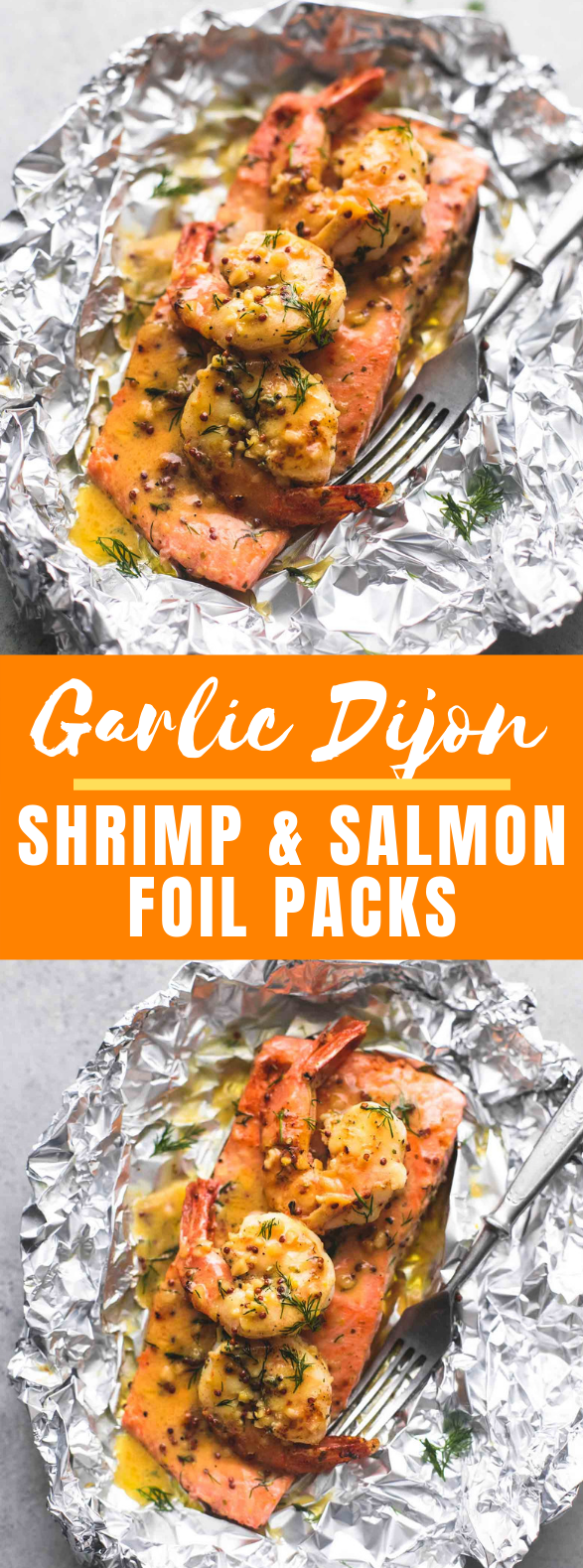 GARLIC DIJON SHRIMP AND SALMON FOIL PACKS #dinner #summer