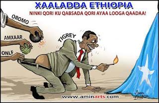 Xaaladda Ethiopia aminrts sawirka uu ka diyaariyay