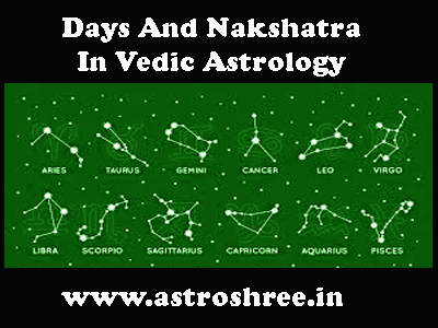 Days And Nakshatra In Vedic Astrology