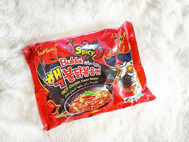 Samyang 2x Spicy Hot Chicken Noodles , Spicy Buldack, Spicy noodles, spicy noodles challenge, spicy, food blog, spicy food blog, yummy, pakistani food blog