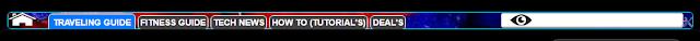 navigation menu bar for blogger template