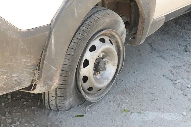 Em Dracena Motorista perde o controle da direção e picape capota na Rodovia Comandante João Ribeiro de Barros