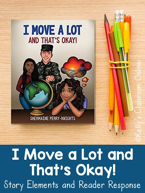 Learn about life as a military 小子, 地理, new 词汇,  和 故事元素 with the book I Move A Lot 和 那'shermaine Perry-Knights的同意。