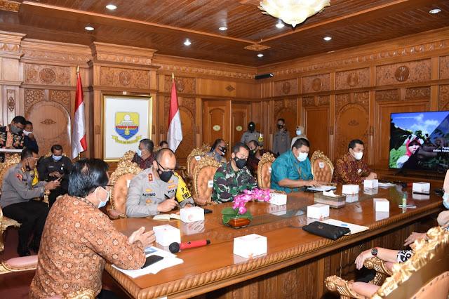 Kapolda Jambi Hadiri Rapat Persiapan Pelaksanaan Pilkada Serentak 2020 di Kantor Gubernur Jambi