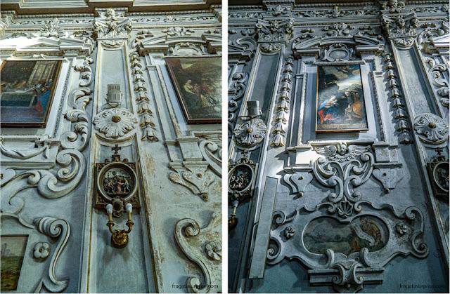 Decoração barroca da Igreja de San Giuseppe de Taormina